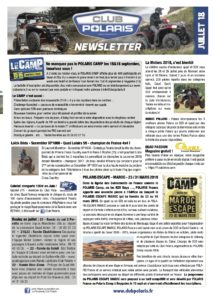 La Newsletter de juillet est parue