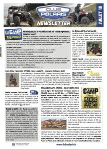 La Newsletter de juillet est parue