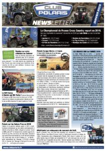 La Newsletter de Janvier est parue!