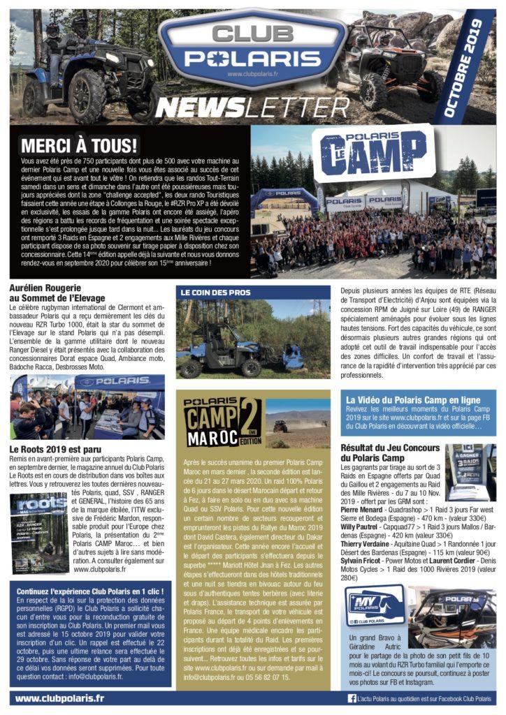 La Newsletter d'octobre est parue!